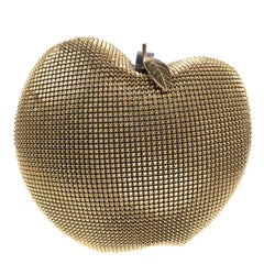 Nicolas Theil MailCoat Metal Gold Plated Apple Clutch