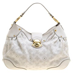 Louis Vuitton White Monogram Mahina Leather Solar PM Bag