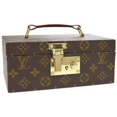 Louis Vuitton Monogram Top Handle Men's Jewelry Travel Storage Case