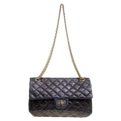 Chanel Black Quilted Leather Reissue Double Gusset Flap Bag
