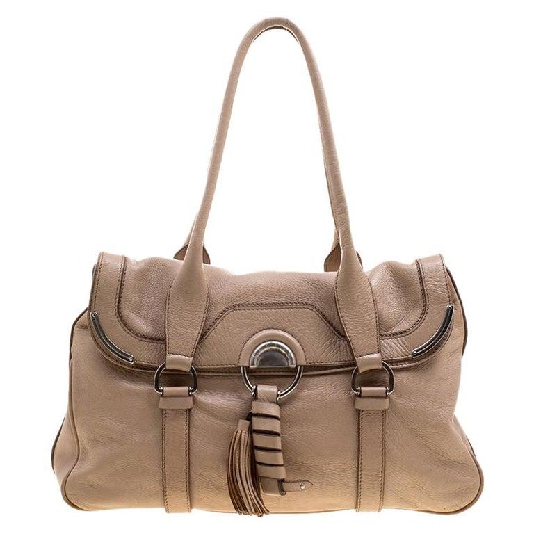 Celine Beige Leather Boston Bag For Sale at 1stdibs f384e2c73c