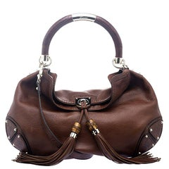Gucci Copper Leather Large Indy Hobo