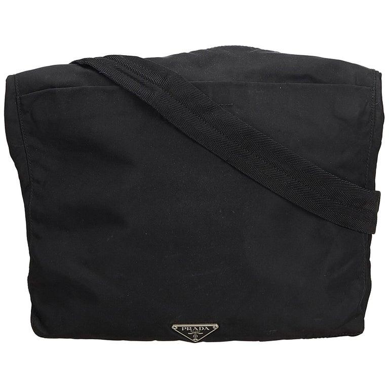 c75ec09f032c Prada Black Nylon Crossbody Bag at 1stdibs