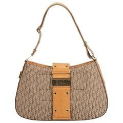 Dior Brown Oblique Canvas Shoulder Bag