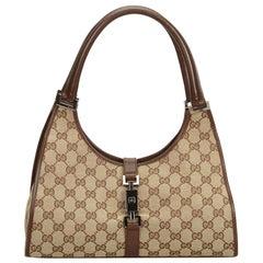Gucci Brown Jacquard GG Jackie Shoulder Bag