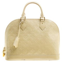 Louis Vuitton Perle Monogram Vernis Alma PM Bag