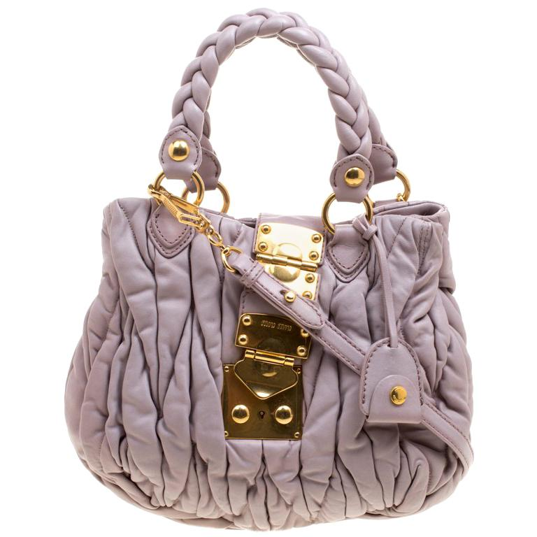 80bda29c8369 Miu Miu Lilac Matelasse Leather Shoulder Bag For Sale at 1stdibs