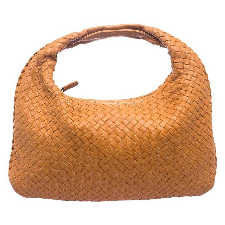 30f2de180b Bottega Veneta Orange Intrecciato Leather Small Hobo For Sale at 1stdibs