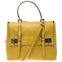 Yellow Top Handle Bags