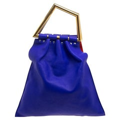 Celine Indigo Leather Open Triangle Bag