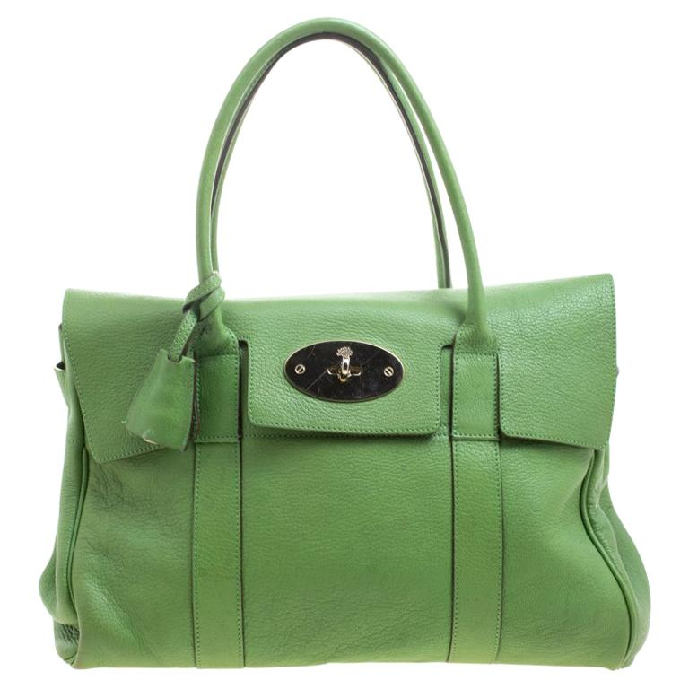 Mulberry Green Leather Bayswater Satchel For Sale at 1stdibs cd6a8fefa1
