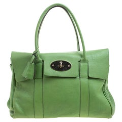 Mulberry Green Leather Bayswater Satchel