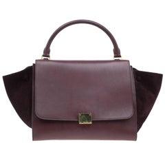Celine Brown Leather Medium Trapeze Bag