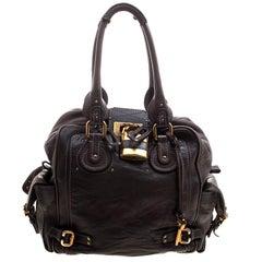Chloe Black Leather Large Zip Paddington Satchel