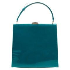 Valentino - Grüne Tasche aus Lackleder mit Griff