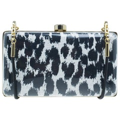 Stella McCartney Black/White Plexy Fabric Felicity Box Clutch