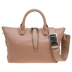 Chloe Bi Color Leather Medium Baylee Tote
