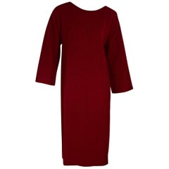 Red Vintage Givenchy Cashmere Maxi Dress