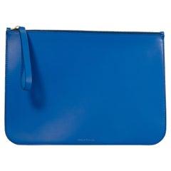 Blue Mansur Gavriel Leather Pouch