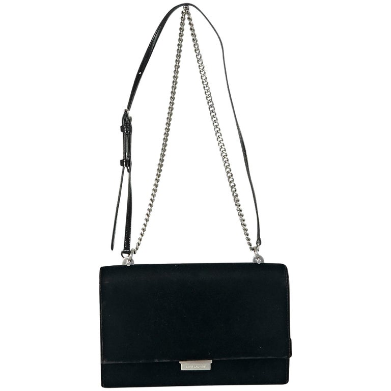 3102e39a6d Black Yves Saint Laurent Small Velvet Babylon Bag For Sale at 1stdibs