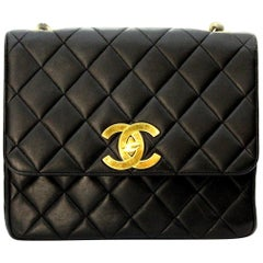 90s Chanel Black Leather Bag