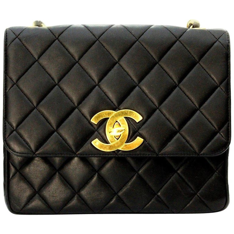 16d998dcf8a2 90s Chanel Black Leather Bag For Sale at 1stdibs