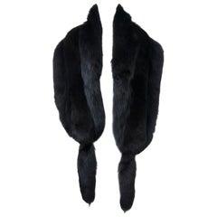 Revillon Black Fox Shawl