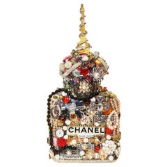 One of a Kind Eclectic Embellished Chanel Eiffel Tower Perfume Bottle