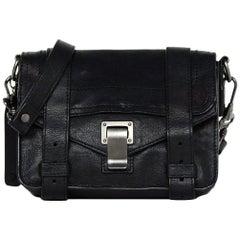 Proenza Schouler Black Leather Mini PS1 Crossbody Bag