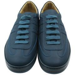 HERMES Mens Osaka Sneaker 41.5 bleu cobalt