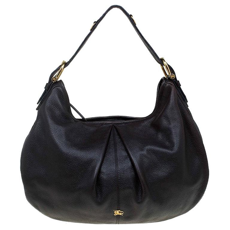 931230b6584d Burberry Black Leather Large Malika Hobo For Sale at 1stdibs