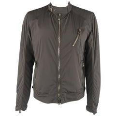 BELSTAFF 44 Black Nylon Biker Jacket
