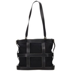 Ferragamo Black Canvas Tote Bag