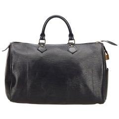 Louis Vuitton Black Epi Speedy 35