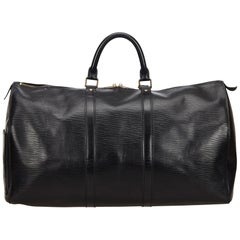 Louis Vuitton Black Epi Keepall 50