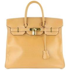 Hermès Birkin Haut à Courroies Gold 32 1hz1130 Brown Leather Satchel