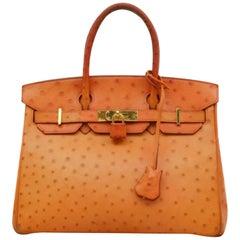Orange Top Handle Bags