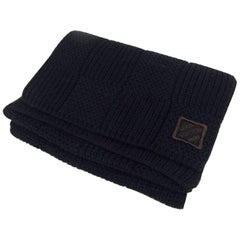 Louis Vuitton Black Knitted Damier 225006 Scarf/Wrap