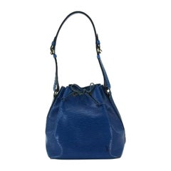 Louis Vuitton Petit Noe 213197 Blue Epi Leather Shoulder Bag