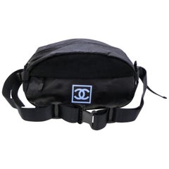 37a2f1f21ed3 Chanel Cc Sports Logo Bum Fanny Pack 232647 Black Vinyl Cross Body Bag