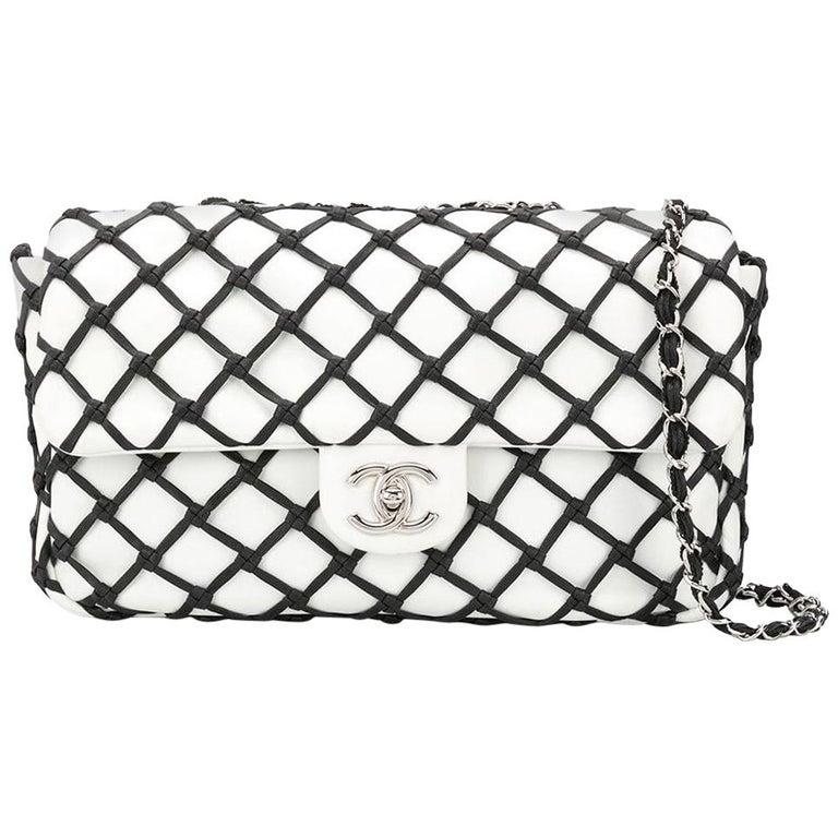 435b6d2571e7 Chanel Jumbo Canebiers Net Flap Bag For Sale at 1stdibs