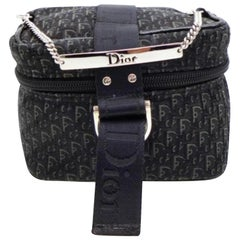 Dior Signature Oblique Monogram Trotter Vanity Chain Case 232569 Cosmetic Bag