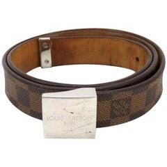 Louis Vuitton Brown Damier Ebene 232572 Belt
