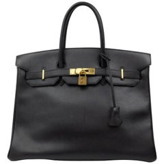 Hermès Birkin 35 226582 Black Ardennes Leather Shoulder Bag