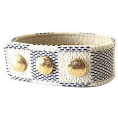 Louis Vuitton White Damier Azur Kobe 2010 Snap 232026 Bracelet