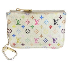 Louis Vuitton Pochette Monogram Multicolore Cles Nm Keys 232028 Cosmetic Bag
