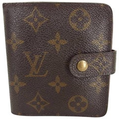 Louis Vuitton Brown Monogram Compact Zip 218528 Wallet