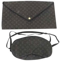 Louis Vuitton Brown Vip Mask and Clutch Set 218981