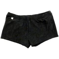 Louis Vuitton Dark Grey Monogram Logo Trunks Bathing Suit 226169 Shorts