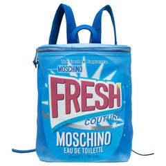 Moschino Blue PVC Fresh Couture Print Backpack